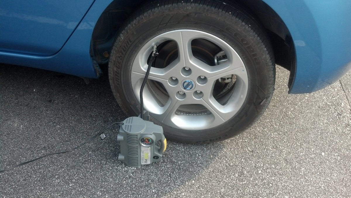 nissan leaf flat tire | Blue Water Leaf