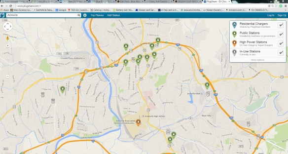 asheville charging map